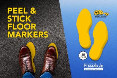 Peel & Stick Floor Markers to Create Lines
