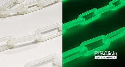 Photoluminescent Glow-in-the-Dark Plastic Chain - Custom Lengths Available