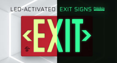 LED-Activated Photoluminescent Exit Signs