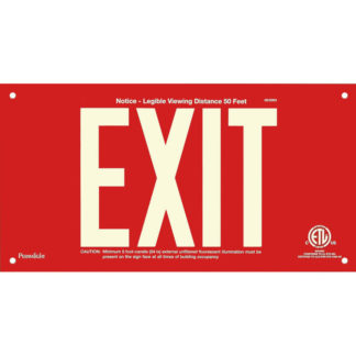 Red Aluminum EXIT Sign, unframed