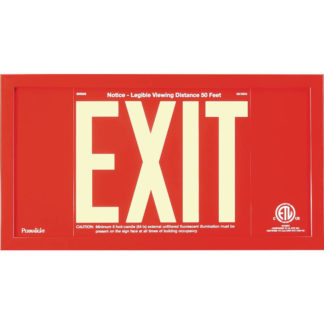 Red Aluminum EXIT Sign in red frame