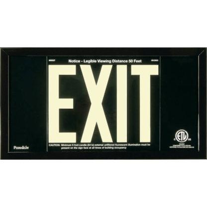 Black Aluminum EXIT Sign in black frame