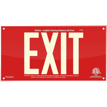 Red Acrylic EXIT Sign