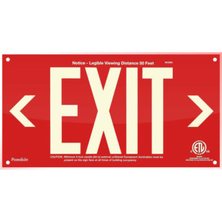Red Acrylic EXIT Sign (left and right Arrows)