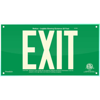 Green Acrylic EXIT Sign