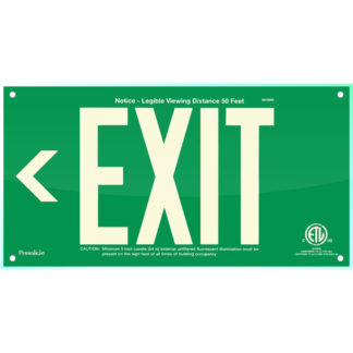 Green Acrylic EXIT Sign (Arrow left)