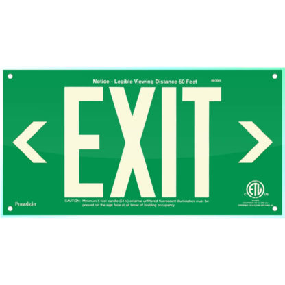 Green Acrylic EXIT Sign (left and right Arrows)