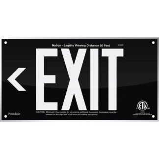 Black Acrylic EXIT Sign (Arrow left)