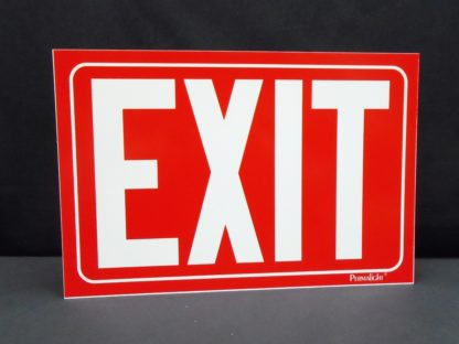 EXIT Sign, red background
