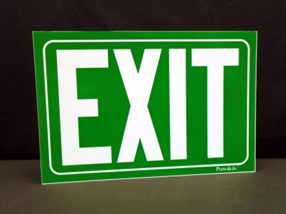 EXIT Sign, green background
