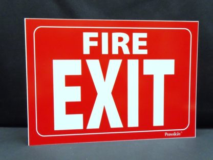 Fire EXIT Sign, red background