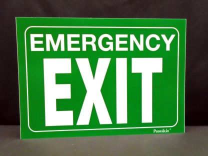 Emergency EXIT Sign, green background