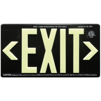 Black ABS Plastic Exit Sign