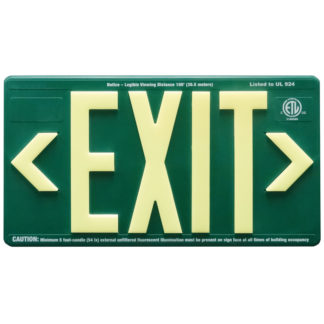 Green ABS Plastic Exit Sign