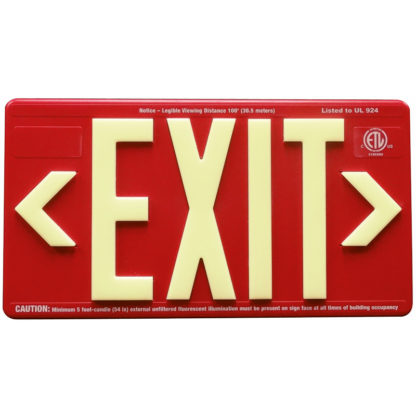 Red ABS Plastic Exit Sign