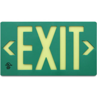 100-foot Viewing Distance LED activation UL924-Listed EXIT sign, green