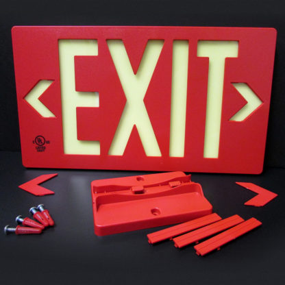 100-foot Viewing Distance LED activation UL924-Listed EXIT sign, red