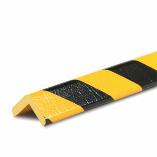 Corner Protection, Type H+, Black / Yellow, self-adhesive