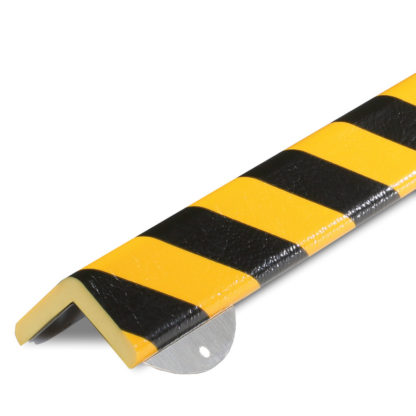 Corner Protection, Type H+, Black / Yellow, with Steel Mounting Support