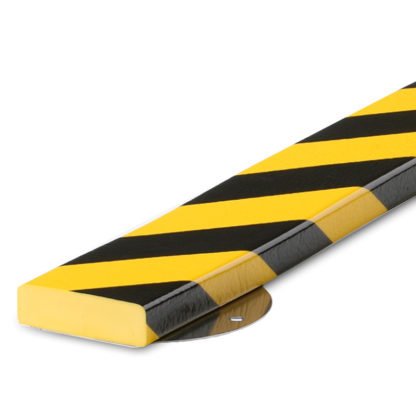 Flat Surface Protection, Type S1 St, Black / Yellow, with Steel Mounting Support