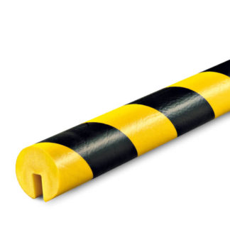 Edge Protection, Type B, Black / Yellow, I-Beam Shelf slide-on