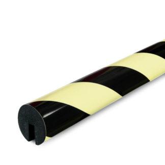 Edge Protection, Type B, Black / Photoluminescent, I-Beam Shelf slide-on