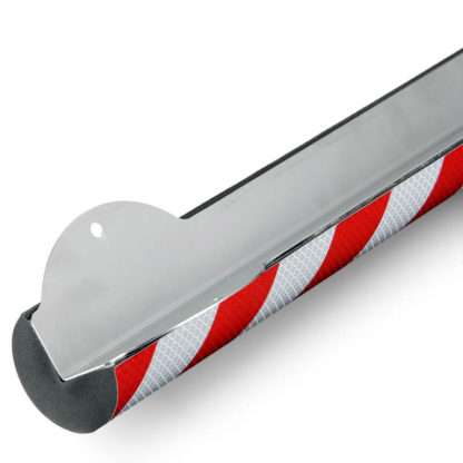 Corner Protection, Type A+, Reflective Silver / Red, with Stainless Steel Support