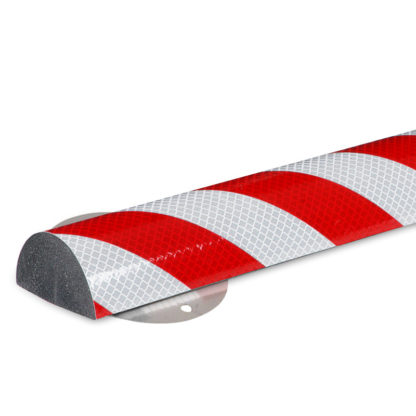 Flat Surface Protection, Type C+, Reflective Silver / Red, with Stainless Steel Mounting Support