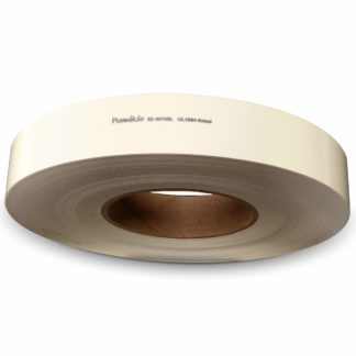 Photoluminescent polyester handrail tape with NYC-required Labeling, self-adhesive backing