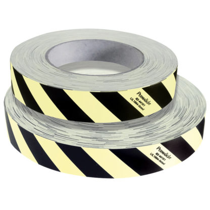 Obstacle Marking, Polyester Tape, Photoluminescent / Contrast Black