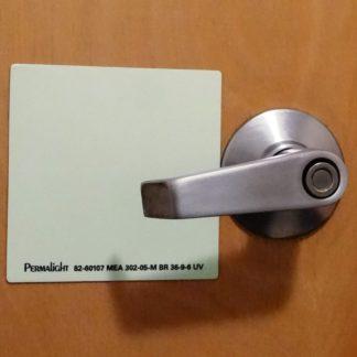 Door Handle Marking, Aluminum, 4 in, self-adhesive