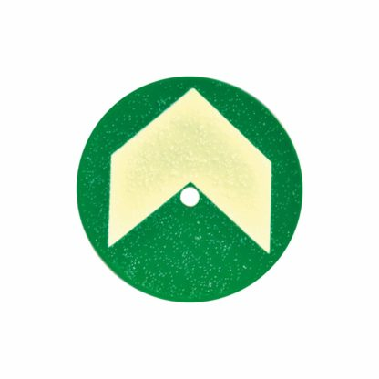Aluminum Discs for Gratings / Catwalks, 10 Discs, with Arrow, 2 3/8 in diameter