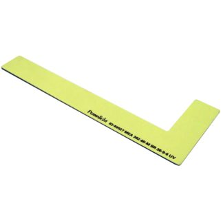 Left side step marker, aluminum, foamy adhesive, 1 x 8 inch