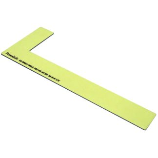 Right side step marker, aluminum, foamy adhesive, 1 x 8 inch