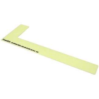 Right side step marker, flexible vinyl, anti-slip surface, thin adhesive, 1 x 8 inch