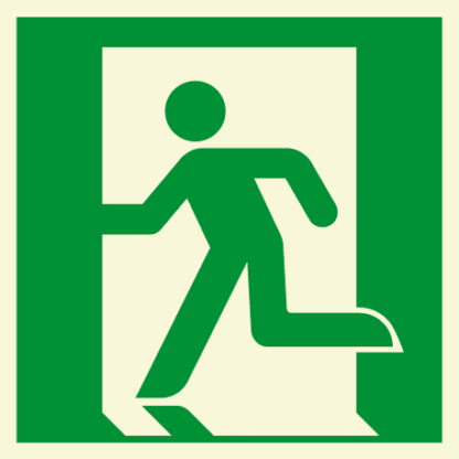 Emergency Exit Symbol - Running Man (Left)