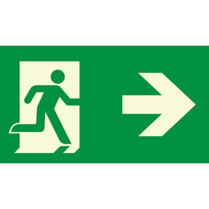 Man running + Arrow right