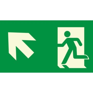 Arrow left up + Man running