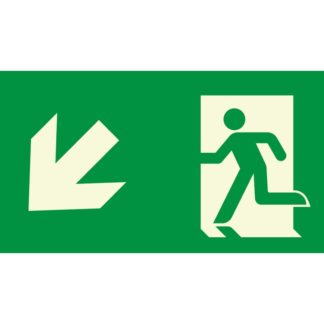 Arrow left down + Man running
