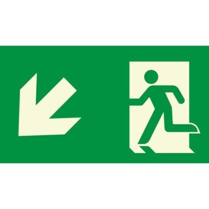 Arrow left down + Man running