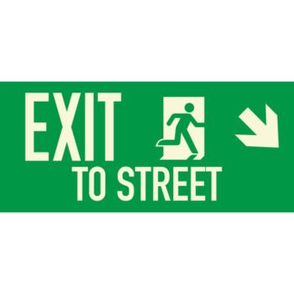EXIT TO STREET + Arrow right downwards