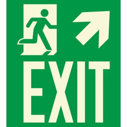 Man running + Arrow right up + EXIT