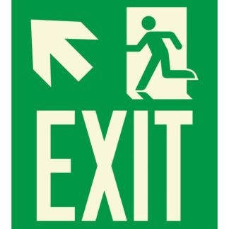 Arrow left up + Man running + EXIT