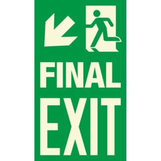 FINAL EXIT + Arrow left downwards