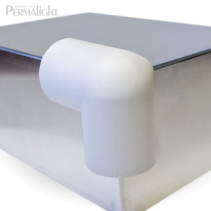 PERMALIGHT® 82-14718 2D Large White Rounded Protective Corner