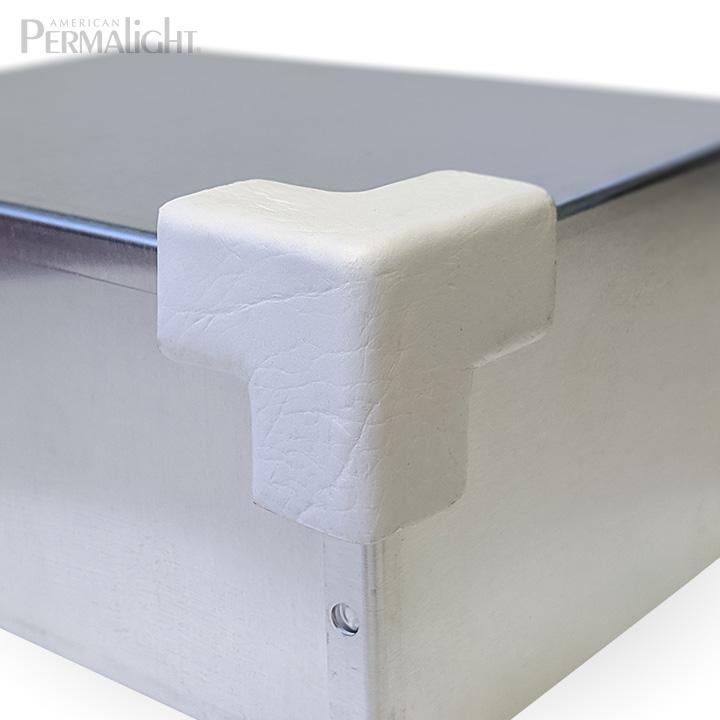 PERMALIGHT® 82-14909 3D Small White Squared Protective Corner