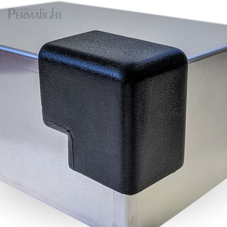 American PERMALIGHT® 82-5618 2D Large Black Squared Protective Corner