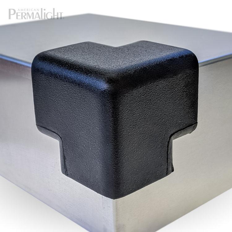 PERMALIGHT® 82-5653 3D Large Black Squared Protective Corner