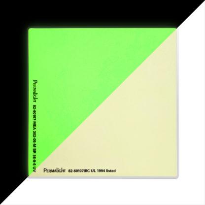 American PERMALIGHT® Photoluminescent Door Handle Backing Sticker - Aluminum - Self-Adhesive - SKU:82-60107IBC