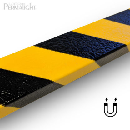 PERMALIGHT® Magnetic Type D Black/Yellow Safety Foam Guard Flat Surface Protector